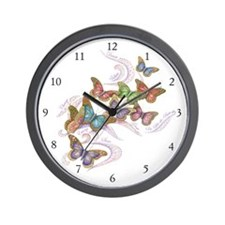 Wall Clock - Butterflies