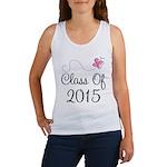 Cute Pink Class Of 2015 Women's Tank Top