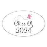 Sweet Pink Class Of 2024 Oval Sticker