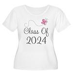 Sweet Pink Class Of 2024 Women's Plus Size Scoop N