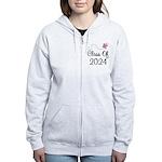 Sweet Pink Class Of 2024 Women's Zip Hoodie
