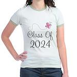 Sweet Pink Class Of 2024 Jr. Ringer T-Shirt
