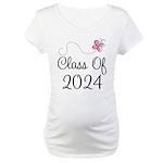 Sweet Pink Class Of 2024 Maternity T-Shirt