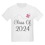 Sweet Pink Class Of 2024 Kids Light T-Shirt