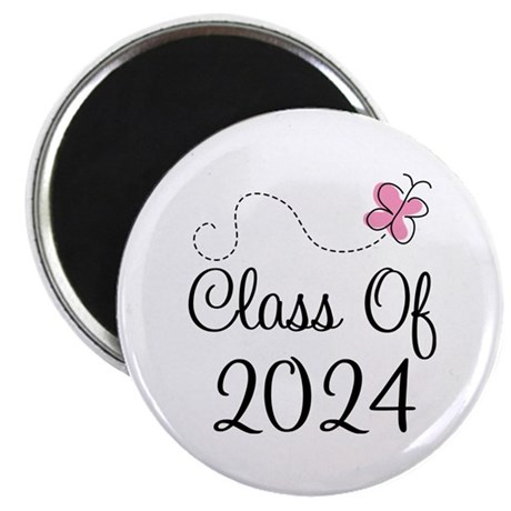Sweet Pink Class Of 2024 Magnet