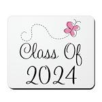 Sweet Pink Class Of 2024 Mousepad