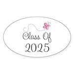 Pink Class Of 2025 Oval Sticker