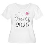 Pink Class Of 2025 Women's Plus Size Scoop Neck T-