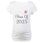 Pink Class Of 2025 Maternity T-Shirt