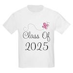 Pink Class Of 2025 Kids Light T-Shirt