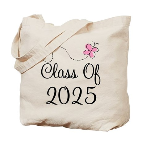 Pink Class Of 2025 Tote Bag