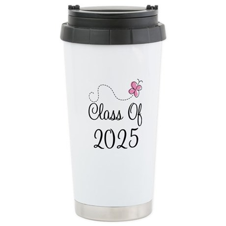 Pink Class Of 2025 Stainless Steel Travel Mug