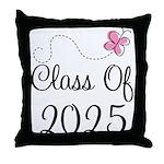 Pink Class Of 2025 Throw Pillow