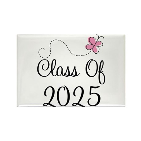 Pink Class Of 2025 Rectangle Magnet