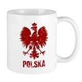 Polska Polish Red Eagle Emblem Coffee  Tasse