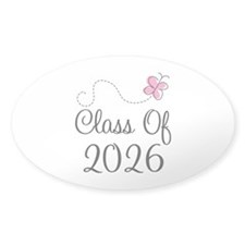 Pink Class Of 2026 Oval Decal