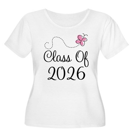 Pink Class Of 2026 Women's Plus Size Scoop Neck T-