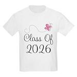 Pink Class Of 2026 Kids Light T-Shirt