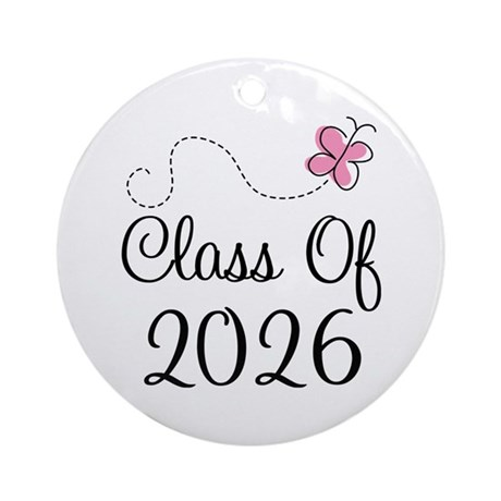 Pink Class Of 2026 Ornament (Round)