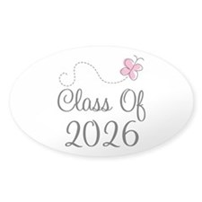 Pink Class Of 2026 Oval Sticker (10 pk)
