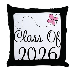 Pink Class Of 2026 Throw Pillow