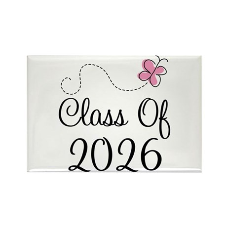 Pink Class Of 2026 Rectangle Magnet