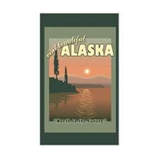 Visit Beautiful Alaska Rectangle Decal