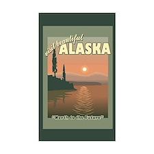 Visit Beautiful Alaska Rectangle Decal