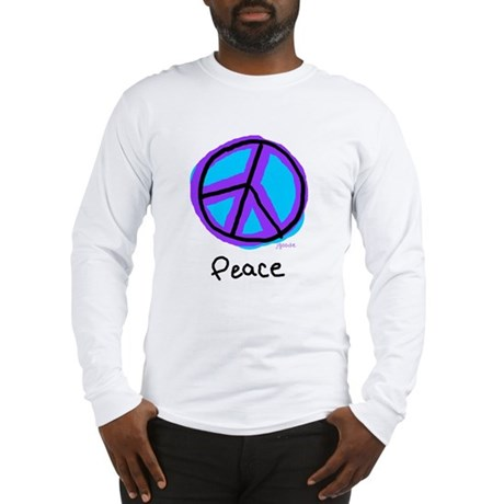 Peace Sign Doodle Men's Long Sleeve T-Shirt
