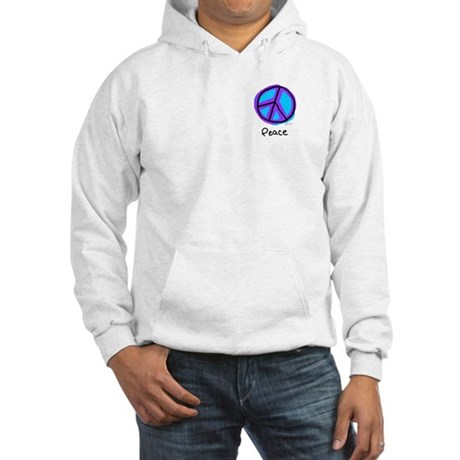 Peace Sign Doodle Men's Hooded Sweatshirt