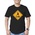 Dodgeball X-ing Men's Fitted T-Shirt (dark)