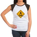 Dodgeball X-ing Women's Cap Sleeve T-Shirt