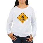 Dodgeball X-ing Women's Long Sleeve T-Shirt