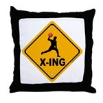 Dodgeball X-ing Throw Pillow