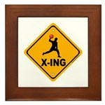 Dodgeball X-ing Framed Tile