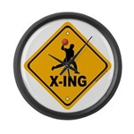 Dodgeball X-ing Large Wall Clock