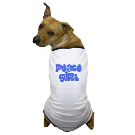 Peace Girl Dog T-Shirt