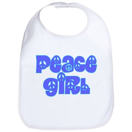 Peace Girl Baby Bib