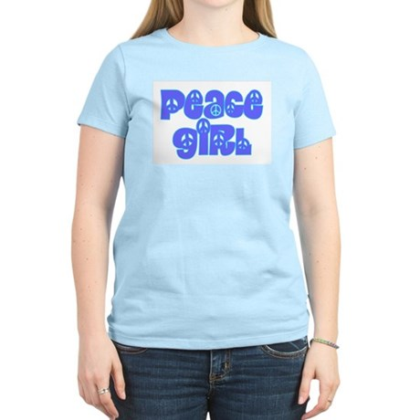 Peace Girl Women's Pink T-Shirt Women's Light T-Shirt