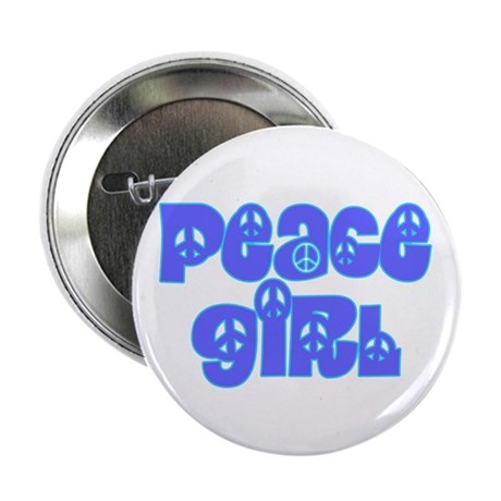 Peace Girl Button 2.25 Inch Button