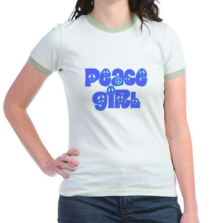 Peace Girl Junior Ringer T-Shirt