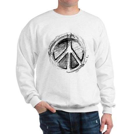 Urban Peace Sign Sketch Men's Sweatshirt