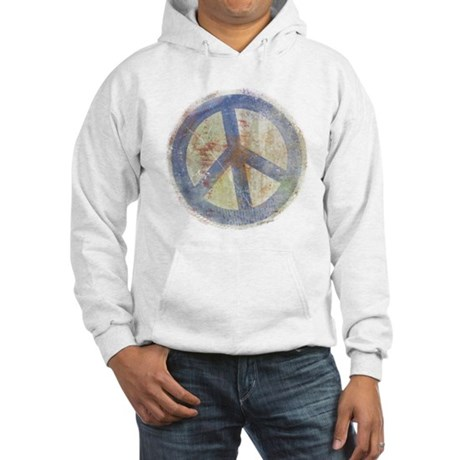 Urban Chic Peace Sign Men's Hooded Sweatshirt