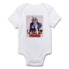 I want you to pull my finger Infant Bodysuit