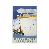 Sudbahnhotel Semmering Austria Rectangle Magnet