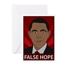Obama False Hope Greeting Cards (Pk of 20)