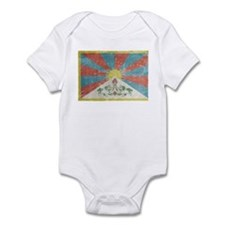 Vintage Tibet Flag Infant Bodysuit