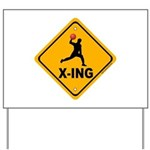 Dodgeball X-ing Yard Sign