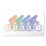 Cycling (Female) Rectangle Decal