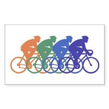 Cycling (Male) Rectangle Decal